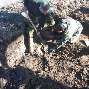 Archeologische vondsten uit Park Lingezegen en explosieven onderzoek